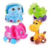 HLJgift 4pcs/Lot Wind Up Toy Wind-Up Animal for Baby, Toddler and Kids (Elephant+Octopus+Camel+Giraffe)