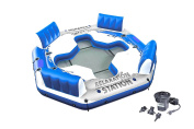 Chair Water Relaxation Station Lounger Inflatable Lake Large Floating Lounge Raft Comfortable Rafting Party Summer Fun Durable Vinyl Construction 4 Person Raft With Air Pump - Skroutz
