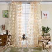 WILLTOO Feather Sheer Blackout Curtain