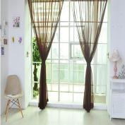 Owill Pure Colour Tulle Door Window Curtain Drape Stylish Valances