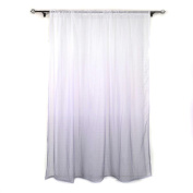 Dacawin Gradient Sheer Curtain Tulle Gradual Change Window Treatment Voile Drape Valance 1 Panel Fabric