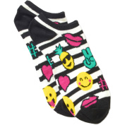 No Boundaries Ladies Emoji 6-Pack No Show Sock with 3D Feather Yarn Ears