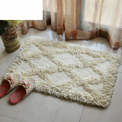 cotton bath mat/water-absorption non-sliping mats/kitchen washing the bathroom floor mat-C 50x80cm