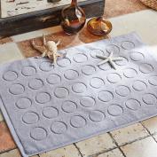 Hotel pure cotton padded bathroom mat/bathroom, bathroom, toilet, non-slip mat.-E 75x50cm