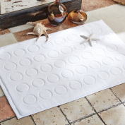 Hotel pure cotton padded bathroom mat/bathroom, bathroom, toilet, non-slip mat.-A 75x50cm