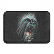 SVVOOD Angry Gorilla Outdoor Indoor Antiskid Absorbent Bedroom Livingroom Bath Mat Bathroom Shower Rugs Doormats
