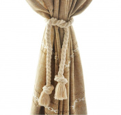 EleCharm 1Pair American Country Tassel Curtain Tieback Nautical Cotton Cord Rope Rustic Room