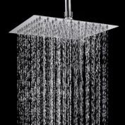 TAPCET 20cm Top Spray Rain Shower Head/Fixed Shower Spray, 304 Stainless Steel ,High Pressure Ultra Thin,Overhead Rainfall SPA Shower Head