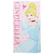 Disney Princess Cinderella Childrens Girls Hearts Printed Beach Towel (70cm x 140cm )