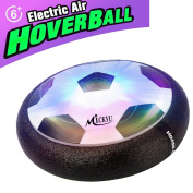 MICKYU Air Hover Ball Toys Power Soccer Glide Base, Soft Foam Floating Ball Game Toys Training Football Indoor Outdoor Disc Hover Ball Fun Board Game with Foam Bumpers and LED Lights
