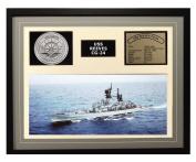 Navy Emporium USS Reeves CG 24 Framed Navy Ship Display Grey