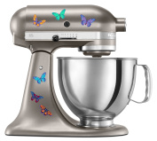 Kitchen Aid Mixer Beautiful Butterfly Artistic Full Colour Post Impressionist Painted Style Decal Pack