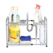 NEX 2-Tier Under Sink Shelf Organiser Under Sink Storage Rack, Flexible & Expandable