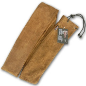 CAROL TRADITIONAL ARCHERY LEATHER LONG BOW COVER / CASE LBC750 BROWN