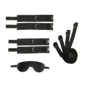 Restraint system kit medical grade hook and loop adjustable soft wrist and ankle with Eye Mask