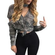 Women's Camouflage Loose Blouse Casual Shirt