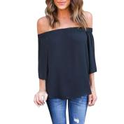 Fashion Loose T-shirt,Women Off Shoulder Tops Long Sleeve Shirt Casual Blouse