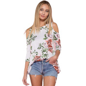Sexy Women Off Shoulder Floral Printed Casual Shirt Blouse