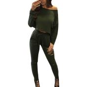 1PC Blouse 1PC Pants,Fashion Women Casual Outfit set