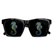 Hippocampus Unisex Mesh Sunglasses Party Favours Prize Carnival Secret Santa Giveaway Birthday Goody Bag Fillers Toy