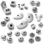 Heather's cf 227 Pcs Combination Classic Finding Zinc Alloy Tibetan Silver Small Hole Beads Jewellery Findings 4