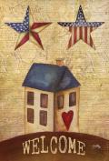 Toland Home Garden American Stars Welcome 32cm x 46cm Decorative USA-Produced Garden Flag