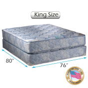 """Chiro Premier Orthopaedic (Blue Colour) King Size (23cm x 190cm x 80"""") Mattress and Box Spring Set - Fully Assembled, Good for your back, Superior Quality, Long Lasting and 2 Sided - By Dream Solutions USA"""