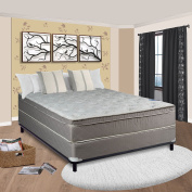 Spinal Solution 25cm Pillow/Euro Top Fully Assembled Orthopaedic Mattress and Box Spring, Full/X-Large
