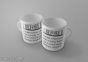 I Before E Except When You Run A Feisty Heist On A Weird Beige Foreign Neighbour - Funny English Grammer Tea/Coffee Mug/Cup - Gift Idea