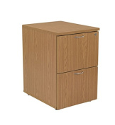 Office Hippo 2 Drawer Filing Cabinet, PRE ASSEMBLED - Wood, Oak