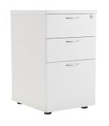 Office Hippo Heavy Duty 3 Drawer Under Desk Pedestal, Pre-Assembled - Wood, White