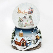 Sigro Snow Swirls Snow Globe with Sound And Movement Inside, 13.5 x 19.5 cm, multicolour