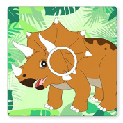 TRICERATOPS/DINOSAUR- UK LIGHT SWITCH STICKERS, KIDS BEDROOM, NURSERY, PLAYROOM