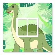 DIPLODOCUS/DINOSAUR- UK LIGHT SWITCH STICKERS, KIDS BEDROOM, NURSERY, PLAYROOM