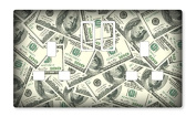 DOLLAR BILLS/MONEY/CASH UK LIGHT SWITCH STICKERS, CHILDS BEDROOM GAME ROOM DECORATING