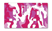 PINK CAMOUFLAGE UK LIGHT SWITCH STICKERS, CHILDS BEDROOM NURSERY DECORATING
