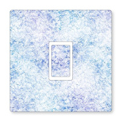 PRINTED ICE TEXTURE UK LIGHT SWITCH STICKERS, CHILDS BEDROOM NURSERY DECORATING