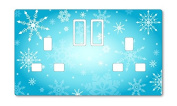 SNOWFLAKE PATTERN UK LIGHT SWITCH STICKERS, CHILDS BEDROOM NURSERY DECORATING