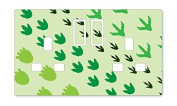 DINOSAUR FEET UK LIGHT SWITCH STICKERS, CHILDS BEDROOM NURSERY DECORATING
