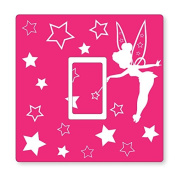 PINK FAIRY UK LIGHT SWITCH STICKERS, CHILDS BEDROOM NURSERY DECORATING