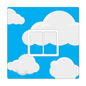 CLOUDS & SKY PATTERN UK LIGHT SWITCH STICKERS, CHILDS BEDROOM NURSERY DECORATING