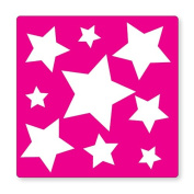 PINK STAR PATTERN- UK LIGHT SWITCH STICKERS, CHILDS BEDROOM NURSERY DECORATING