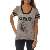 Marilyn Monroe Juniors' Hi-Low Football Tee with Contrast Neckline