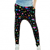 Juniors Stretch Waist Stars Pattern Fashionable Harem Yoga Pants