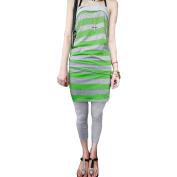 Allegra K Juniors Horizontal Stripes Strapless Skinny Tracksuits