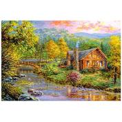 TOOGOO(R) Forest House 5D Diamond Embroidery Painting Cross Stitch DIY Decor