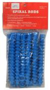 Spiral Perm Rods Long Blue