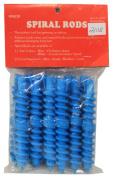 Spiral Perm Rods Medium Blue