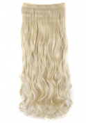 FRISTLIKE 70cm Long Curly 3/4 Full Head One Piece 5 Clip Clip in Hair Extensions