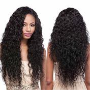 Echo Beauty Top 7A Peruvian Virgin Human Hair Lace Front Wigs for Black Women Curly Wave Handmade Human Hair Wigs Natural Colour Medium Cap 150% destiny 41cm